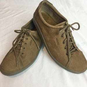 ECCO Women's Comfort Brown Leather Shoes Size 9